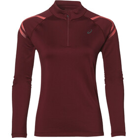 asics Icon - T-shirt manches longues running Femme - rouge